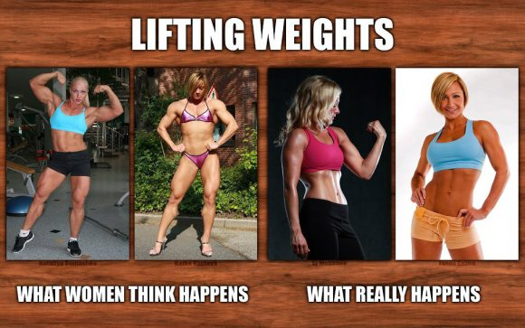 women who lift weights will bulk