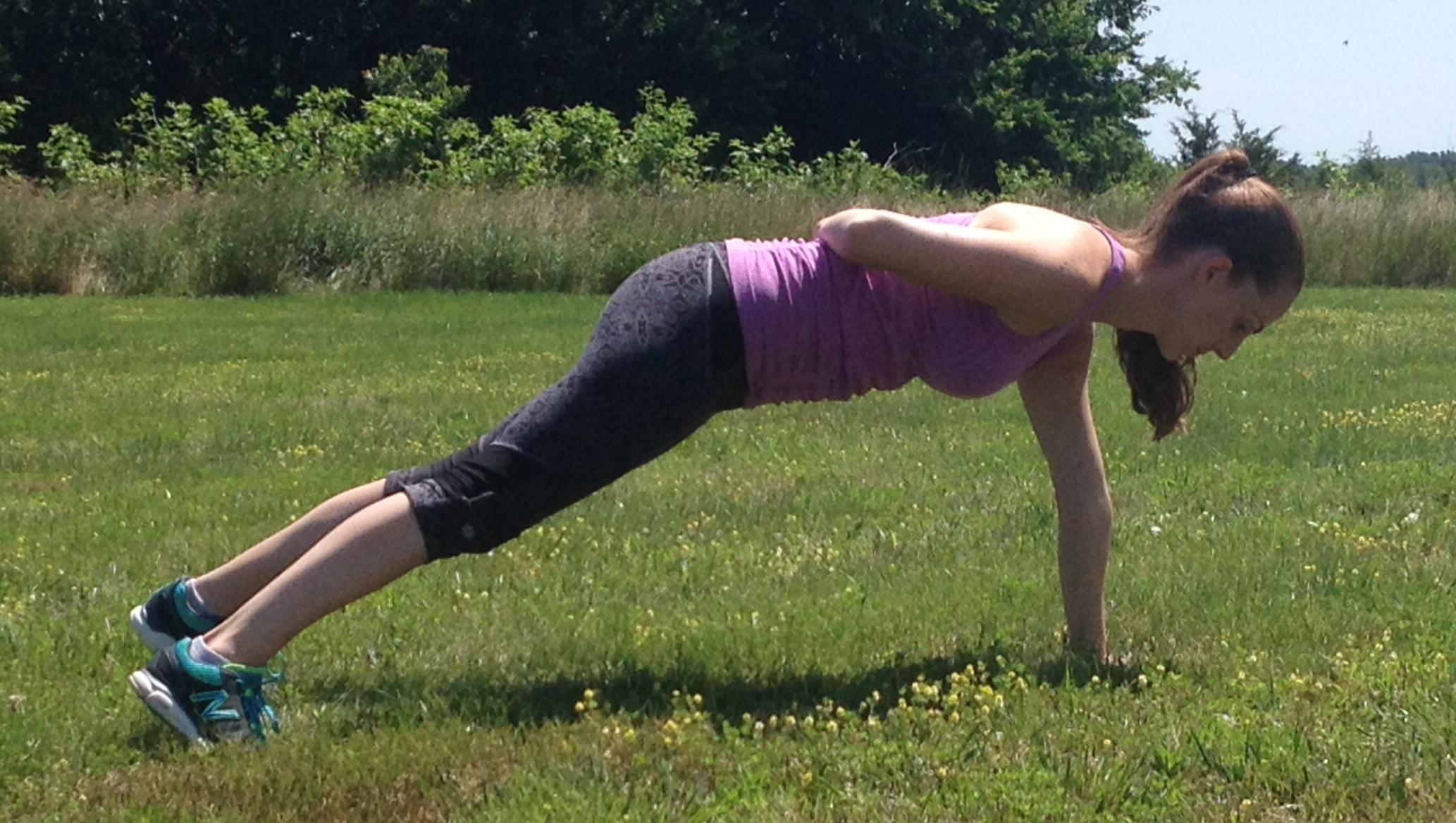 plank progression single arm
