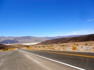 driving through death valley