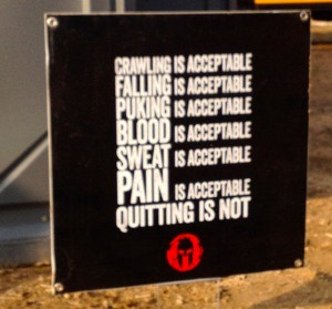 spartan race sign